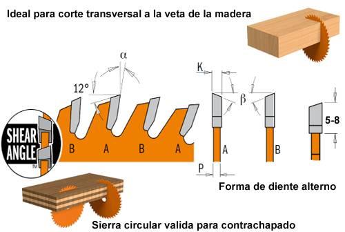Sierra circular de corte delgado para contrachapado de la marca cmt