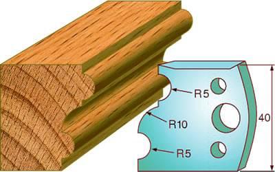 Cuchillas para redondear madera