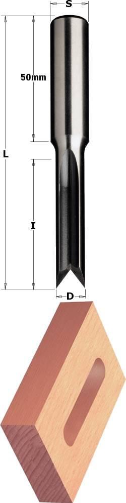 Broca madera escoplear para taladros pendulares, mango de 16 mm y 2 cortes