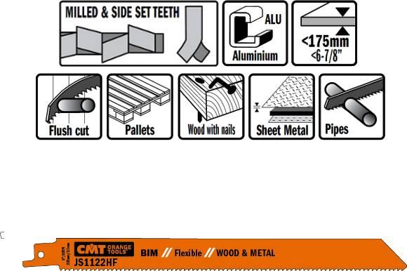 Hojas de sierra para sables de calidad BIM 8%Co, para el corte de metales y madera para la restauracion de palets