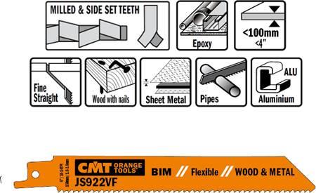 Hojas de sierra BIM para chapas de metal y aluminio desde 3 a 10 mm, maderas con clavos