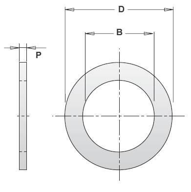 Anillos para reducir los ejes de las sierras circulares para madera,aluminio o metales