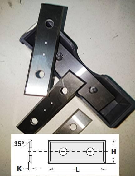 Cuchillas de widia reversibles con 4 cortes rectos, calidad superior SMG02