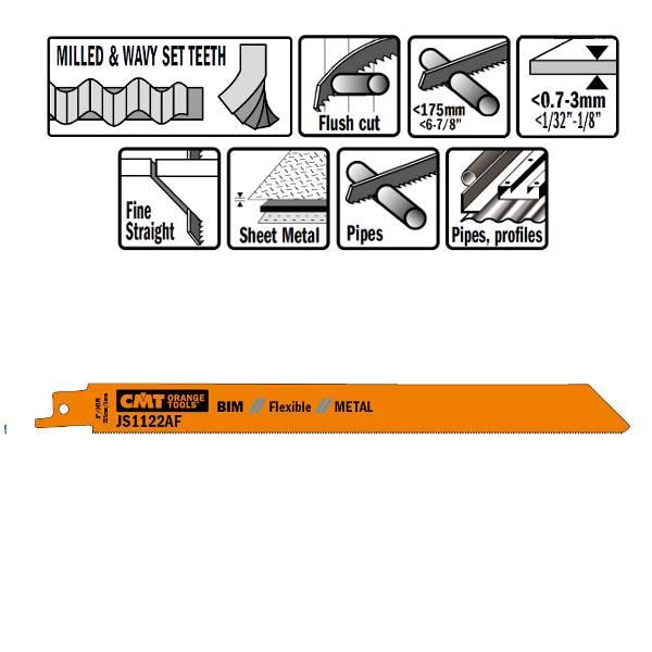 Hojas de sierra para sables, hoja de sierra flexible, cortes enrasados y sin esfuerzo, calidad bimetal