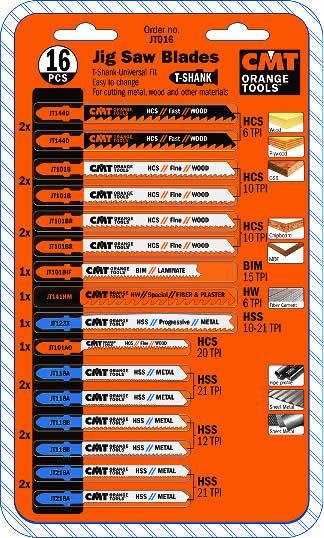 Hojas de sierra para calar calidad HCS,HSS, BIMETAL, WIDIA para la mayoria de maquinas de calar