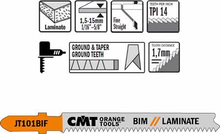 Hojas de sierra bimetalicas 8% Co para cortes desde 1,5 a 15 mm