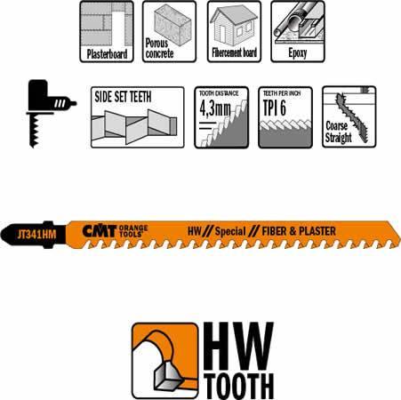 Hoja de sierra de carburo de tungsteno extra larga para cortar en maquinas caladoras materiales abrasivos