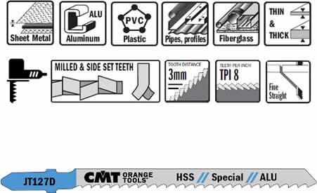 Hojas de sierra hss para cortes especiales sobre madera, metal y plastico.
