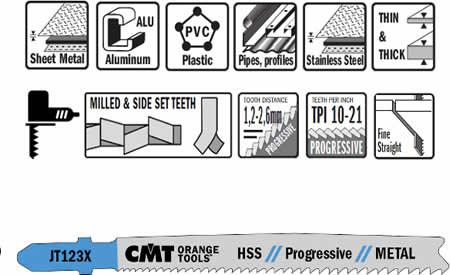 Hojas de sierra para metal HSS con dentado variable y corte recto progresivo