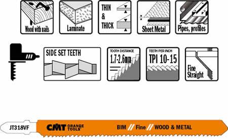 Hojas de sierra bimetalicas para madera y metal fabricadas en acero con 8% Co, maxima duracion y buena efectividad en cortes rectos