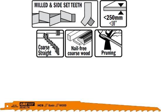 Hojas de sierras sables para la mayoria de modelos de maquinas de sables