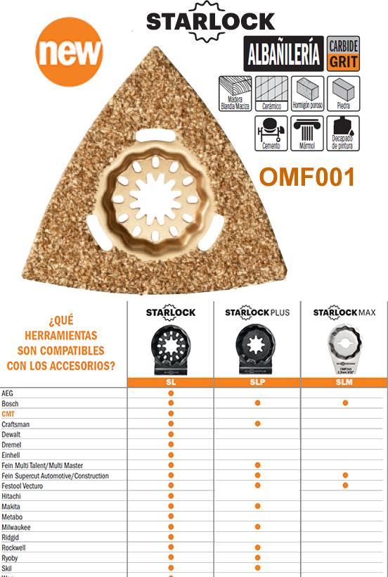 Accesorios multiherramienta oscilante para lijar y cortar, calidad metal duro y ancho de hoja 80 mm