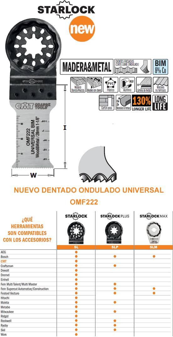 NUEVO: Accesorio herramienta multifuncion oscilante, hojas de sierra para madera y metal