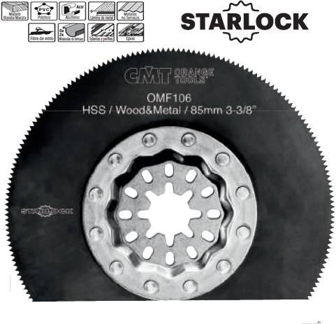 Cuchilla segmentada en calidad hss de 85 mm para madera y metal