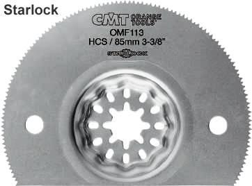 Hoja de 85 mm segmentada para trabajar materiales blandos en maquina herramienta multifuncional