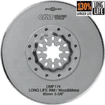 Disco de sierra segmentado con calidad bimetal de extra larga duracion del corte, para madera y metal, de 85mm de diametro
