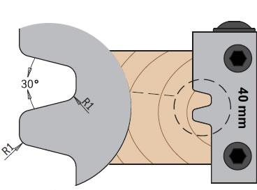 Cuchillas para ensamblar y unir madera de junta paralela