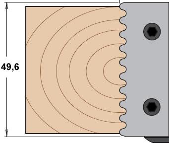 Cuchillas para madera que realizan uniones en juntas paralelas