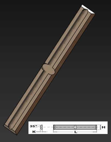 Cuchillas para madera y aglomerados de 4 cortes para fresas de ranurar, sistema de amarre en cruz