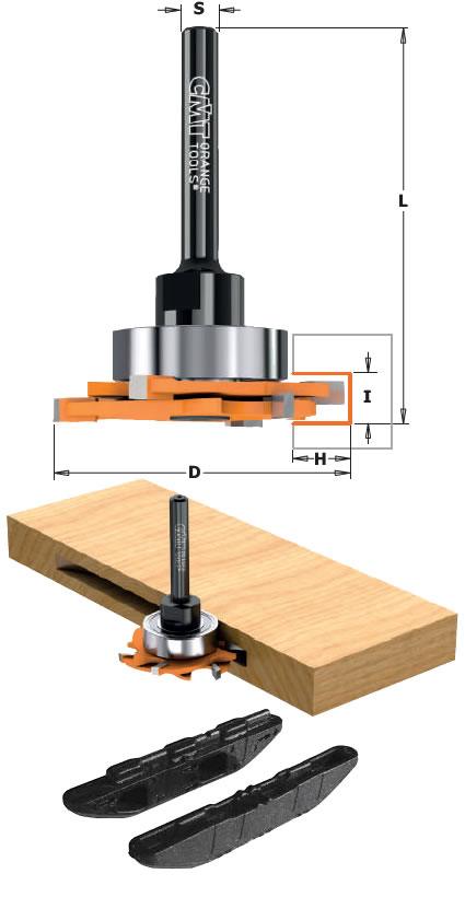 Fresas madera ranurar para conectores striplox mini