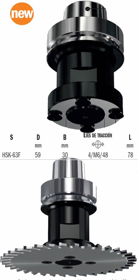 Portaherramientas discos sierra diametro 250