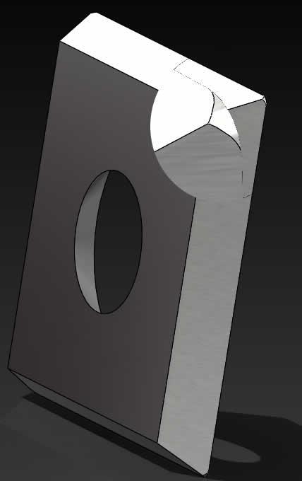 Precortadores con esquinas redondeadas de radio 0,75mm