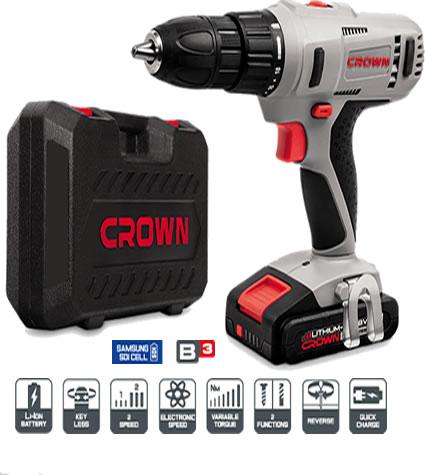 Taladro atornillador bateria 18V marca Crown