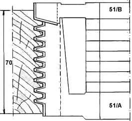Portacuchillas para ensambles de espesor variable