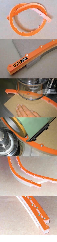 Plantilla flexible curvas y radios cmt, para trabajar en tupis o mesas de trabajo con fresadoras manuales