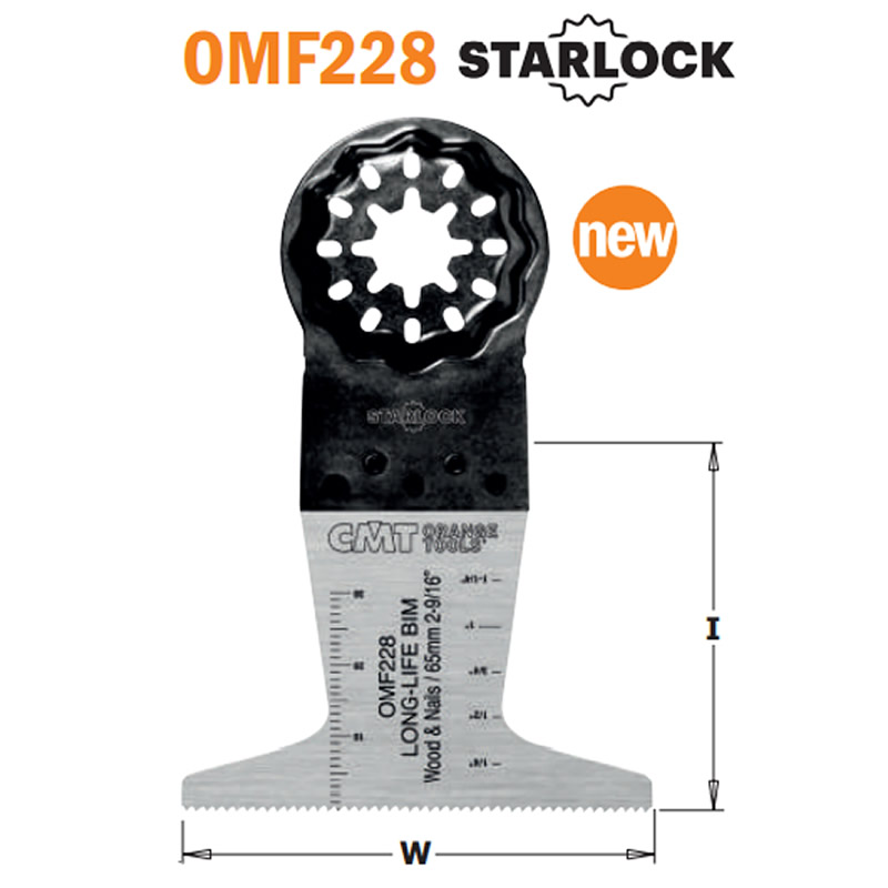 hoja sierra inmersion perfiladora Bimetal OMF228