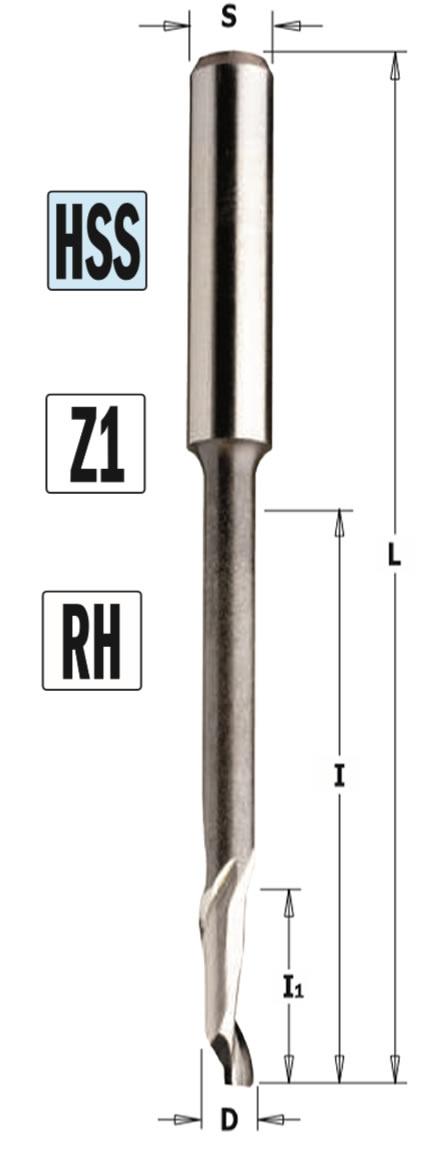 Fresa para aluminio y PVC Z1 larga