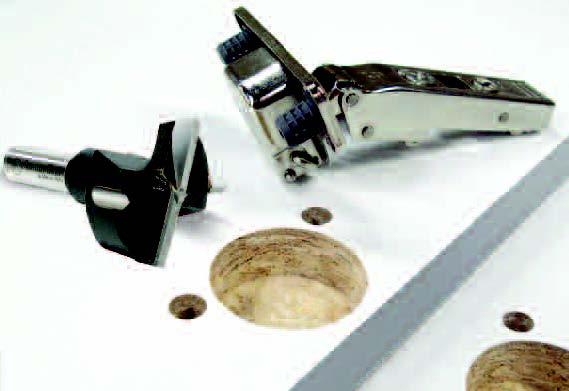 Brocas para maderta que se utilizan para la colocacion de bisagras