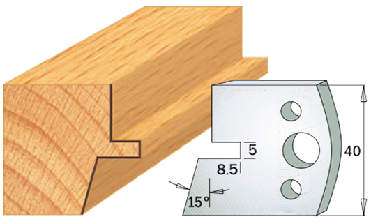 cuchilla madera 690085