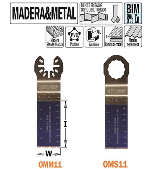 hoja sierra herramienta oscilante OMM11 OMS11