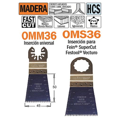 hoja sierra herramienta oscilante OMM36 OMS36