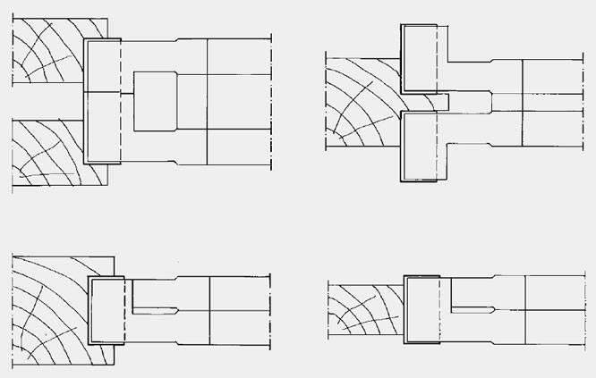 Conjunto de dos cabezales regulables por medio de anillos intercalados