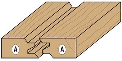 fresa para empalmar madera,ejemplo de ensamble recto en cualquier tipo de madera