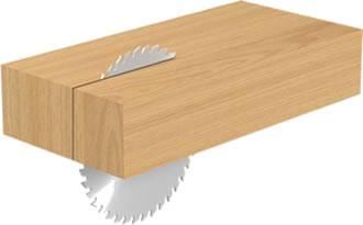 Sierra circular idonea para cortes en maderas a favor de la veta