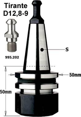 Mandril ISO30 para pinzas elasticas tipo ER32 con conexion conica,para maquinas alberti y masterwood