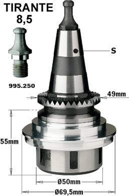 Mandril de pinzas elasticas tipo ER32 ISO30 para maquinas scm y morbidelli