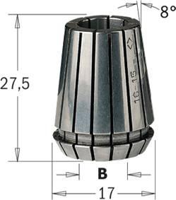 Pinza elastica biconica tipo ER16