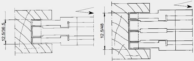 Herramienta adaptada para realizar ranuras anchas de 8 hasta  24 mm según modelo ,y regulable mediante anillas decimales. Tanto la cuchilla como el precortador se puede utilizar 4 veces. Cabezal utilizable tanto en avance manual como mecanico,tupis,moldureras,combinadas,perfiladoras,etc… Utilizando el portacuchillas 21CB ( ver en el adjunto )intercalado con este cabezal se pueden obtener ranuras hasta de 36 mm .