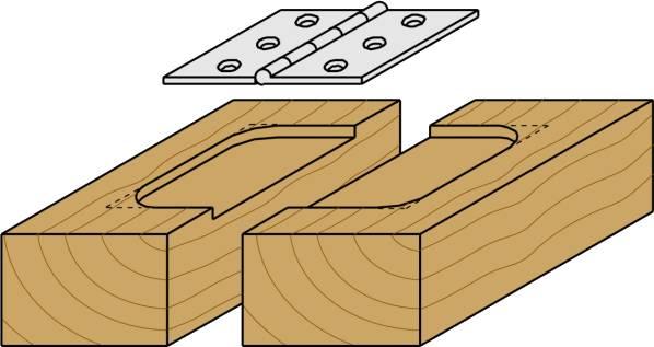 Fresas para realizar el cajeado para bisagras son idoneas para realizar fresados laterales de profundidad pequeña