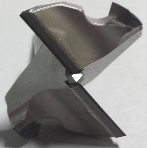 Broca de diamante policristalino 2 cortes + 2 precortadores en diamante y punta de centraje de MD altura de diamante H3