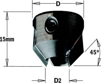 Avellanadores instalados en la helice de la broca para brocas helicoidales