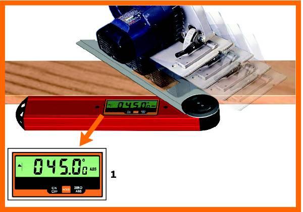 Es sumamente facil de usar, este util incorpora una pantalla LCD y una barra de medir cualquier ángulo inclinado entre 0° y 360°