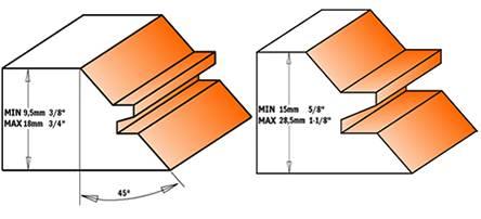 Dos medidas de fresas distintas para varios espesores de madera,fresa montada con placas soldada en calidad md