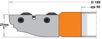 cabezal para plafones a utilizar en máquinas tupí y combinadas.  Resultado excelente en todos los materiales, ideal en madera dura y paneles