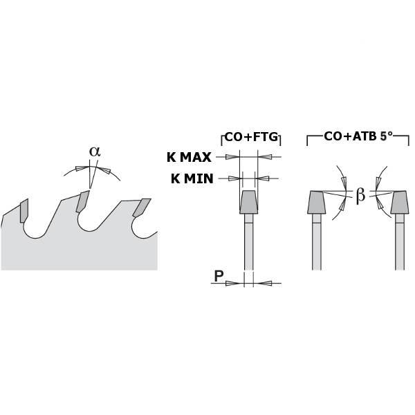 Regulando la altura del incisor se consiguen ranuras de distinta anchura acordes con la anchura del disco principal