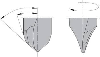 El afilado del metal duro asegura un acabado perfecto de 0.4µ/mm